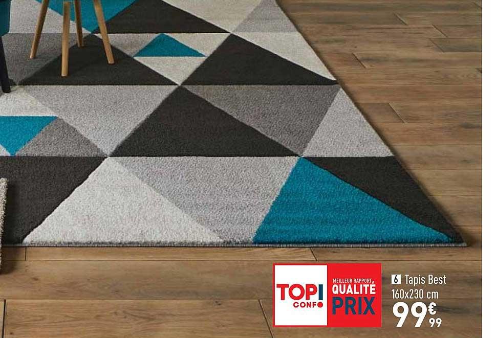 offre tapis best 160x230 cm chez conforama