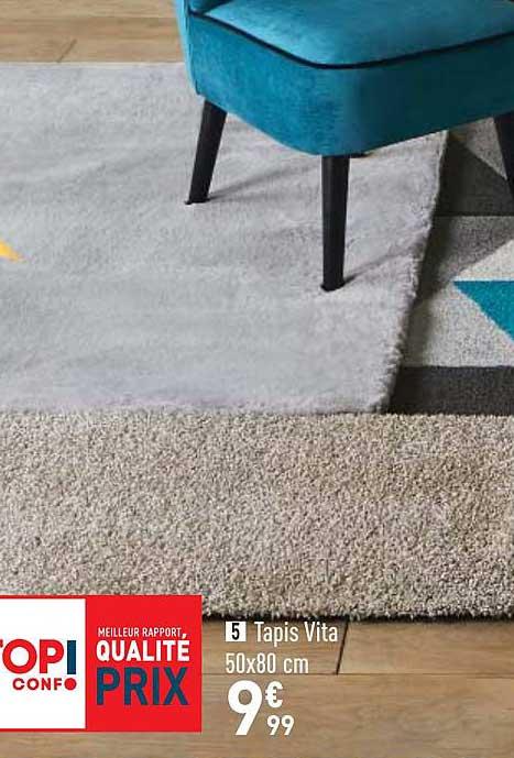 offre tapis vita 50x80 cm chez conforama