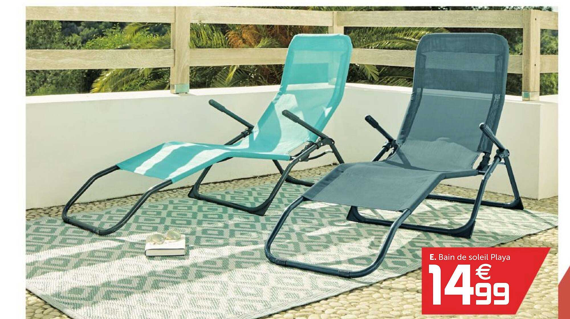 offre bain de soleil playa chez gifi