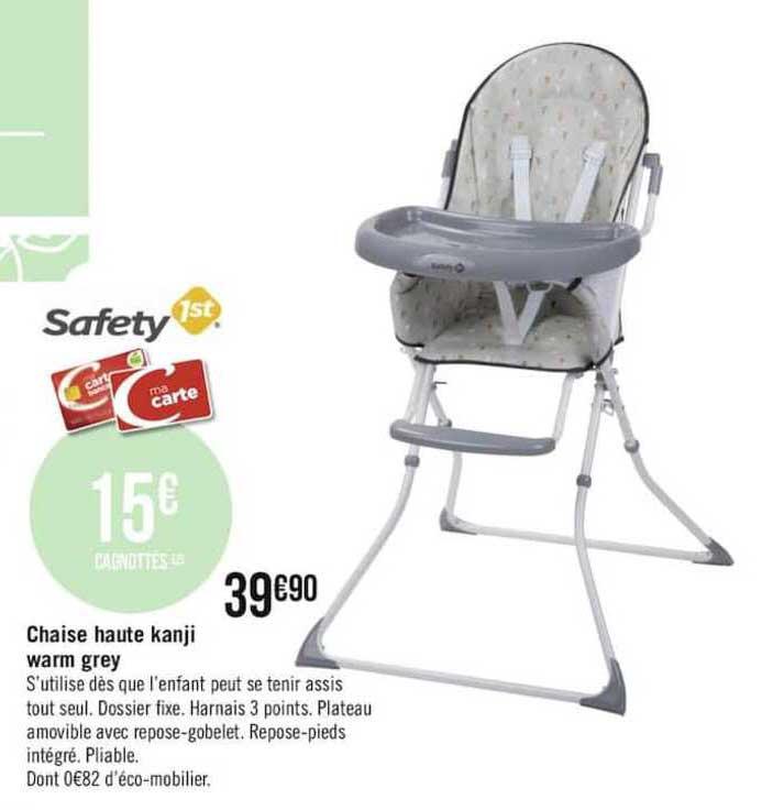 chaise haute kanji warm grey safety 1st