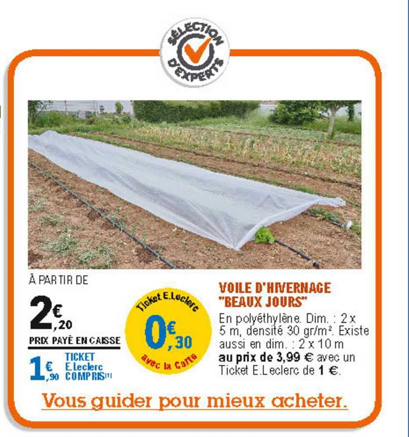offre voile d hivernage 2 x 5 m noterne