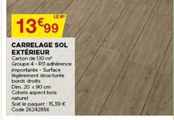 offre carrelage sol exterieur chez