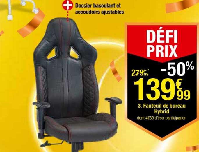 offre fauteuil de bureau hybrid chez but