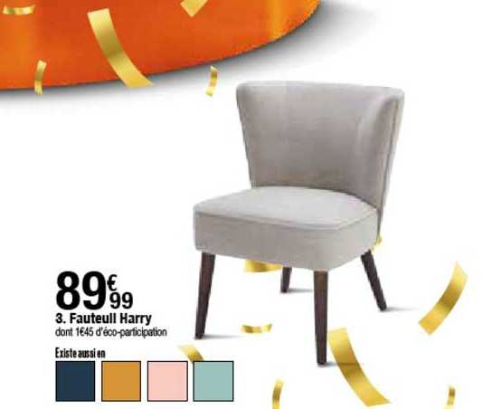 offre fauteuil harry chez but