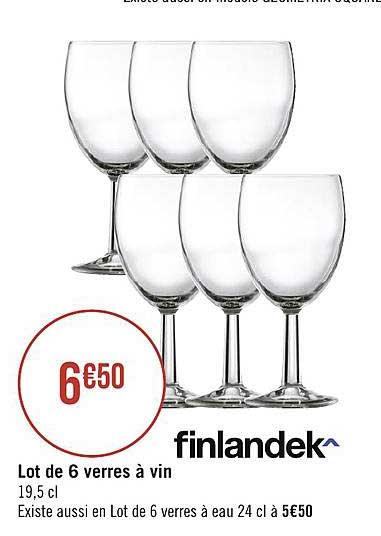 6 verres a vin finlandek chez geant casino