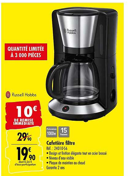 filtre russell hobbs chez carrefour