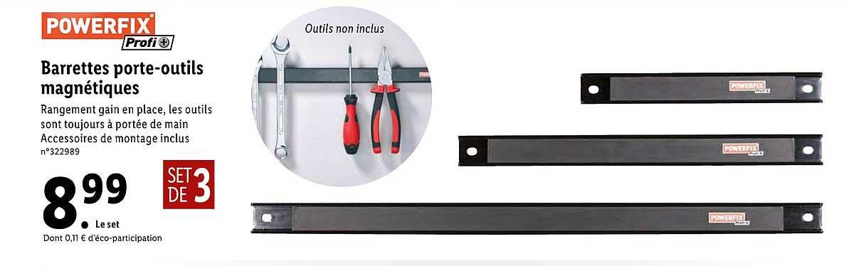 offre barrettes porte outils magnetique