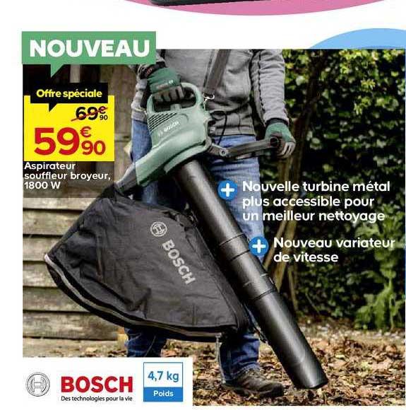 Offre Aspirateur Souffleur Broyeur 1800 W Bosch Chez Castorama