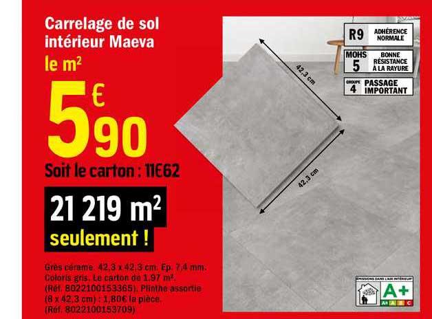 Offre Carrelage De Sol Interieur Maeva Chez Brico Depot