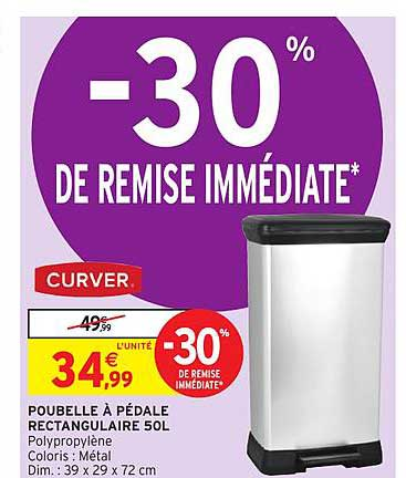 rectangulaire 50 litres curver 30