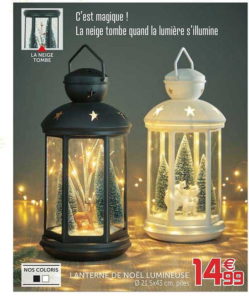 offre lanterne de noel lumineuse chez gifi