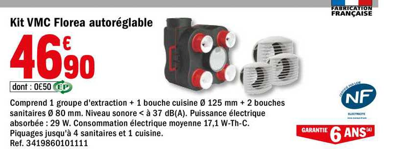 Offre Kit Vmc Easyhome Hygroreglable Compact Aldes Chez Brico Depot