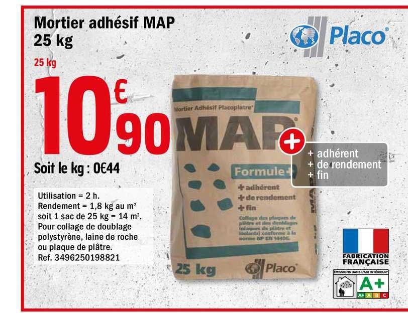 Offre Mortier Adhesif Map Placo Chez Brico Depot