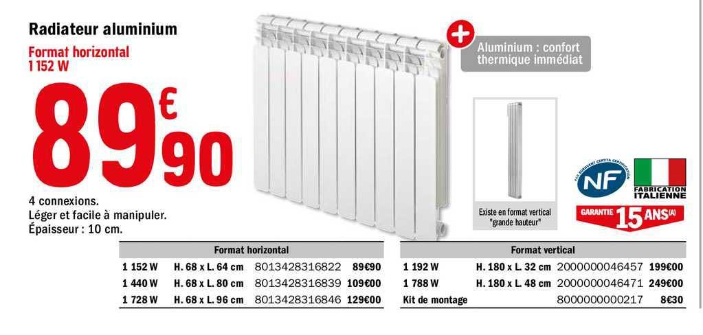 Offre Radiateur Aluminium Chez Brico Depot