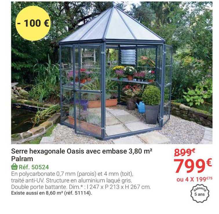 serre de jardin harmony 4 4 m palram