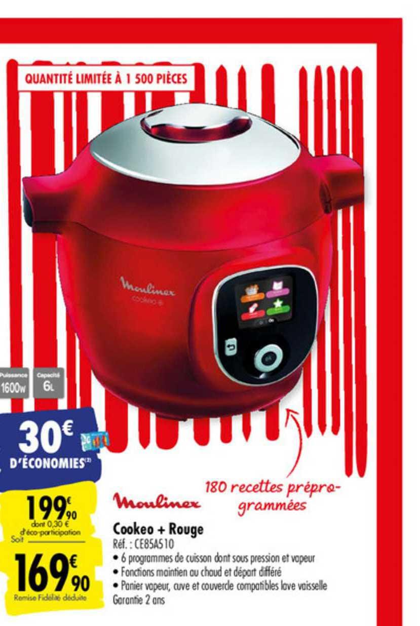 offre cookeo rouge moulinex chez