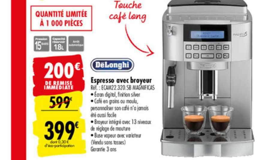 offre espresso avec broyeur delonghi