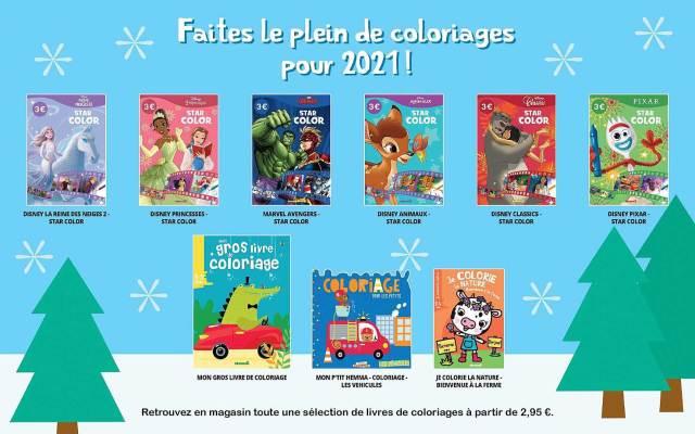 Offre Livres De Coloriages chez Auchan
