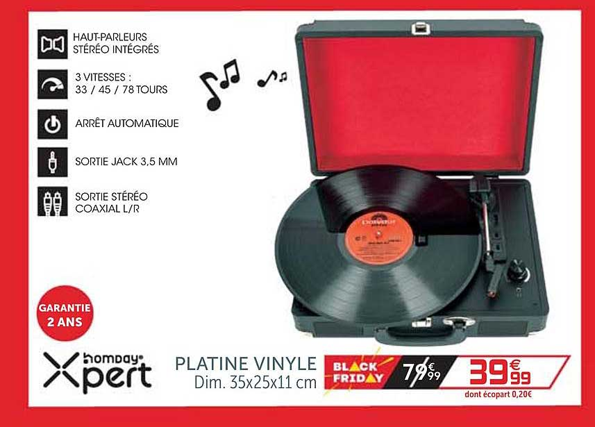offre platine vinyle xpert homday chez gifi