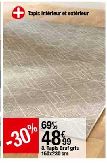 offre tapis graf gris 160 x 230 cm chez but