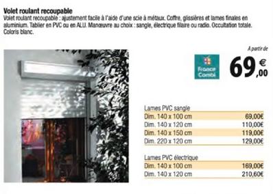 Offre Volet Roulant Recoupable Chez Tridome