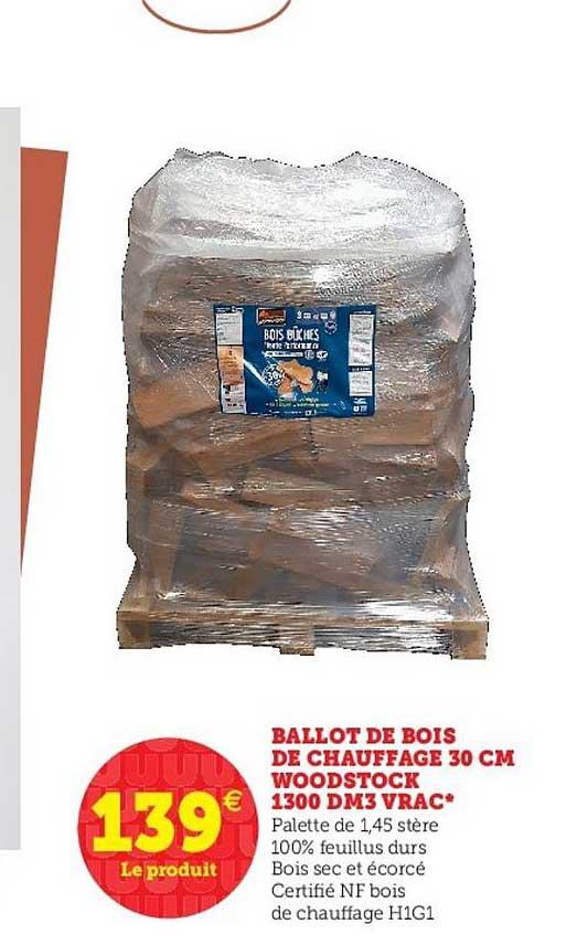 offre ballot de bois de chauffage 30 cm