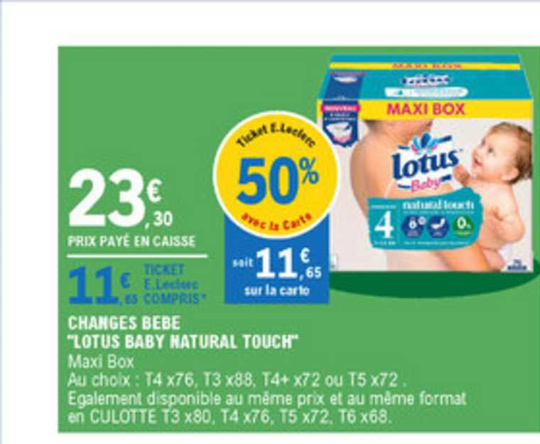 lotus baby natural touch maxi box