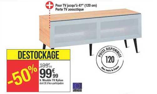 offre meuble tv kylian chez but