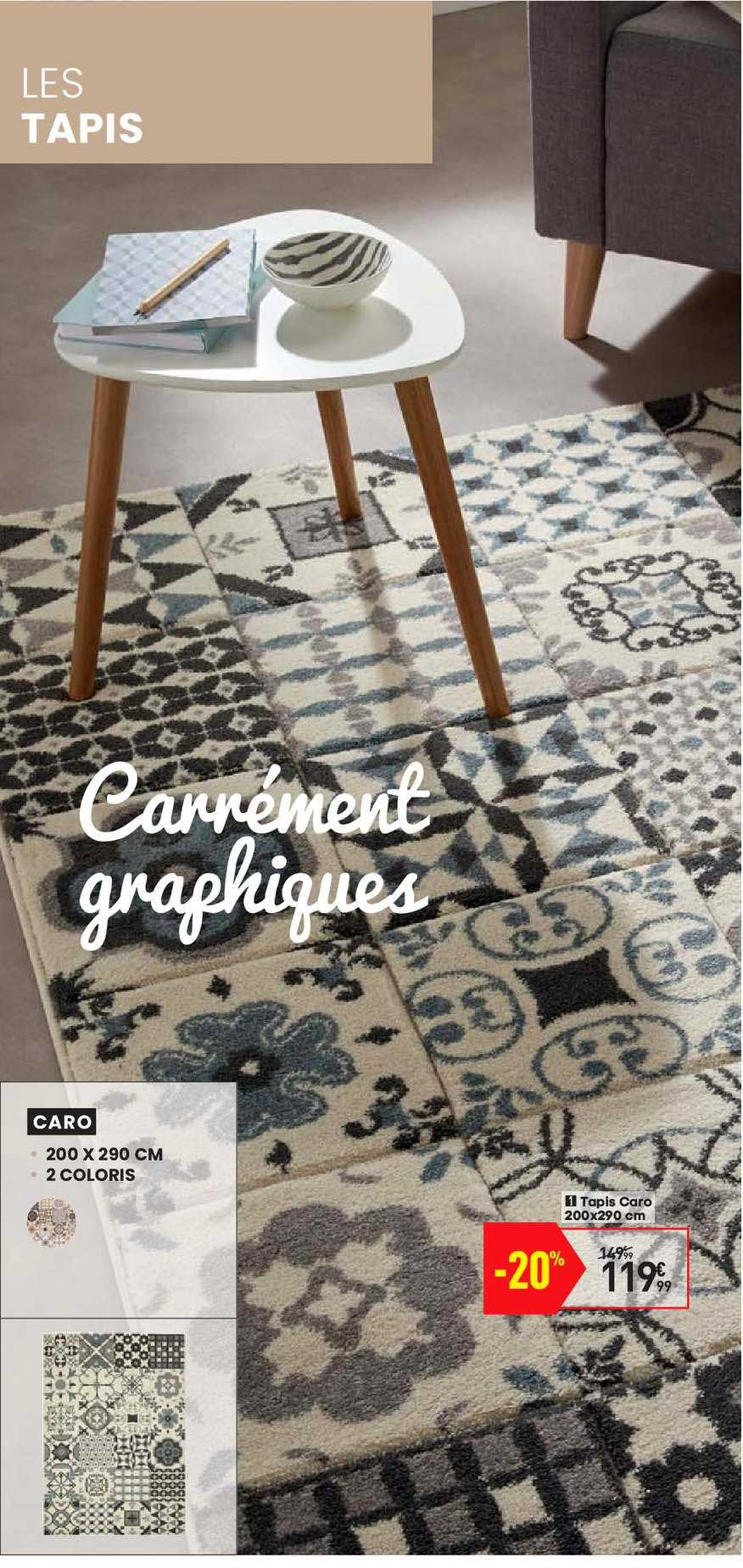 offre tapis caro chez conforama