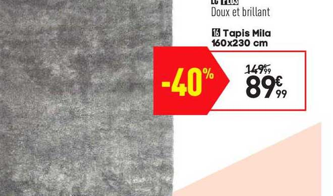 offre tapis mila 160x230 cm chez conforama