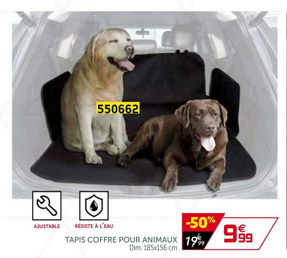 offre tapis coffre pour animaux chez gifi