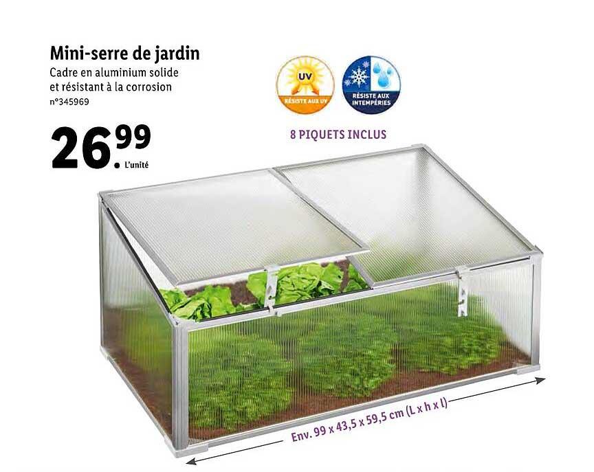 offre mini serre de jardin chez lidl