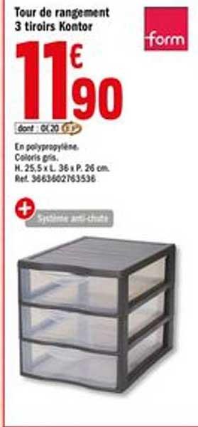 offre tour de rangement 12 tiroirs eda