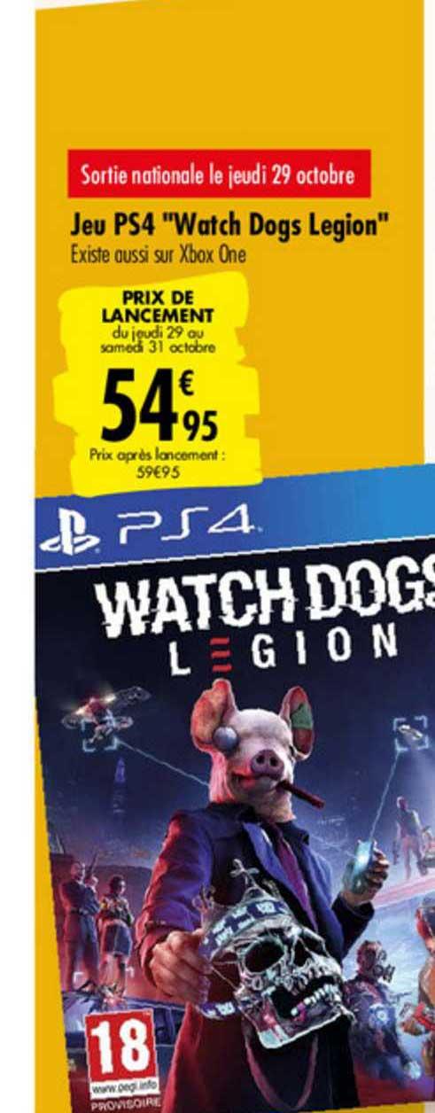 jeu ps4 watch dogs legion chez carrefour