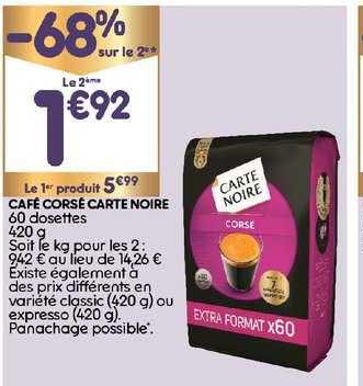offre cafe corse carte noire 68 sur