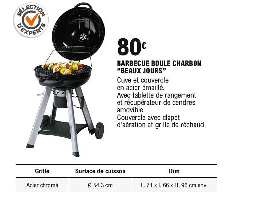 offre barbecue boule charbon beaux