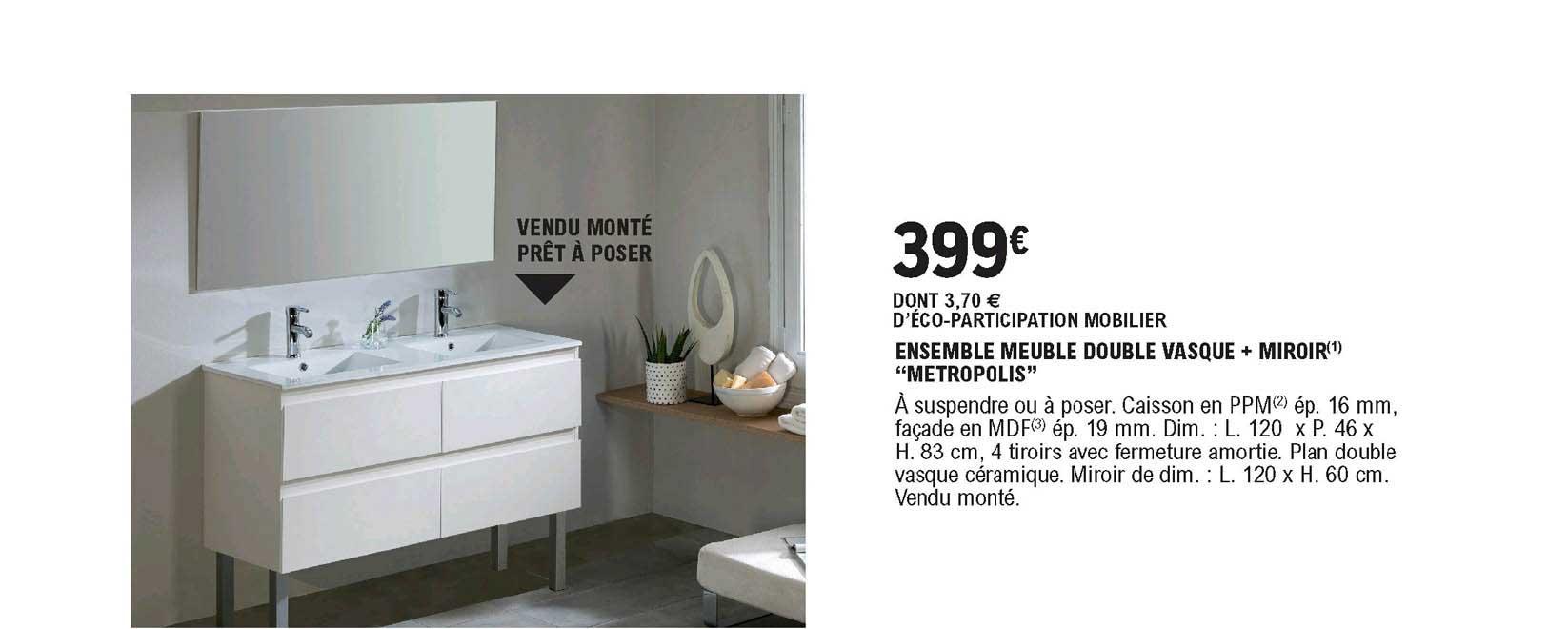 offre ensemble meuble double vasque