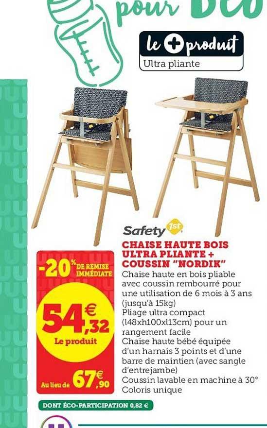 offre chaise haute bois ultra pliante