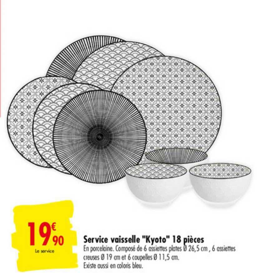 offre service vaisselle kyoto 18 pieces