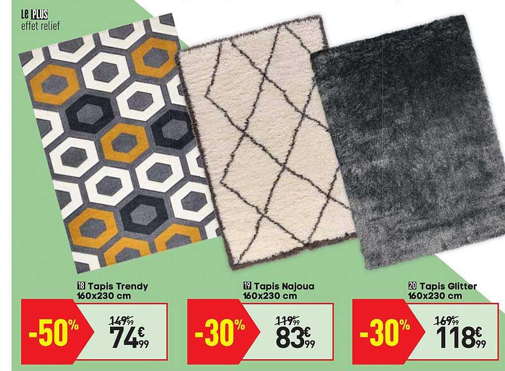 offre tapis trendy 160x230 cm tapis