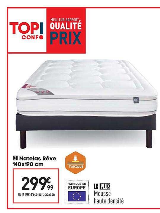 Offre Matelas Reve 140x190 Cm Chez Conforama