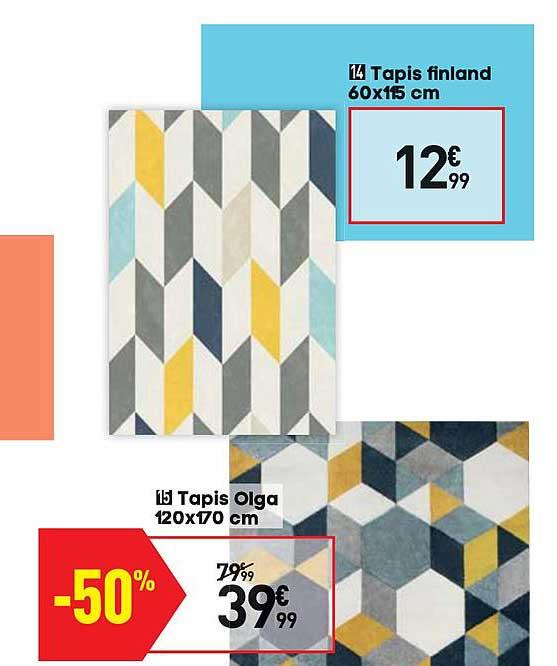 offre tapis olga 120x170 cm chez conforama