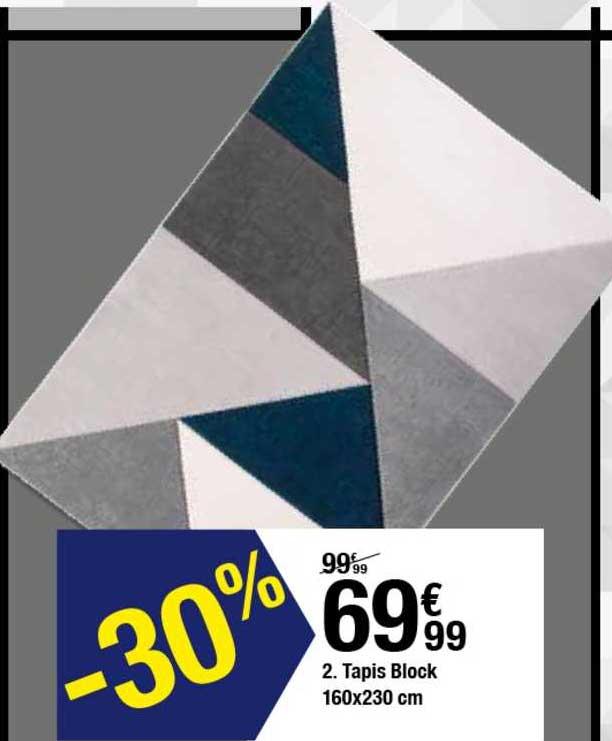 offre tapis block 160x230 cm chez but