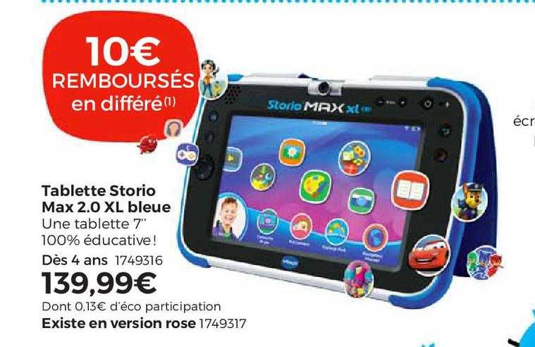 offre tablette storio max 2 0 xl bleue