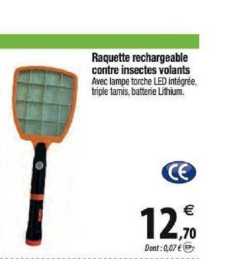 Offre Raquette Anti Insectes Electrique Chez Tridome