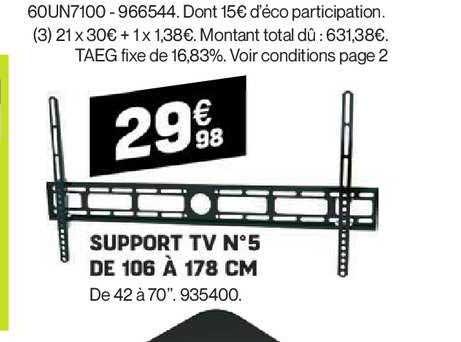 Offre Support Tv Mural 28 42 Chez Brico Cash