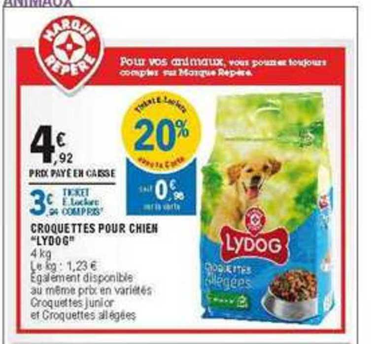 offre croquettes pour chien lydog chez