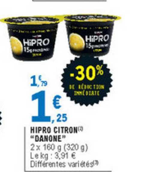 offre hipro citron danone 30 de