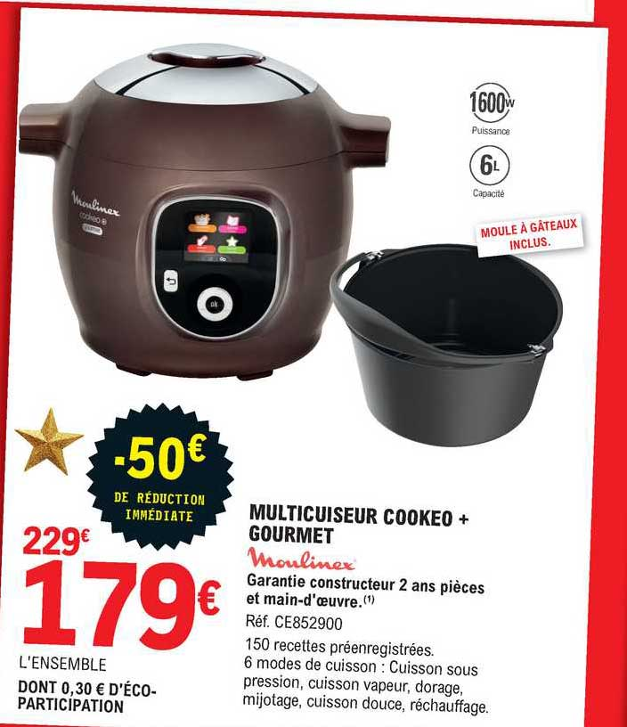 offre multicuiseur cookeo gourmet