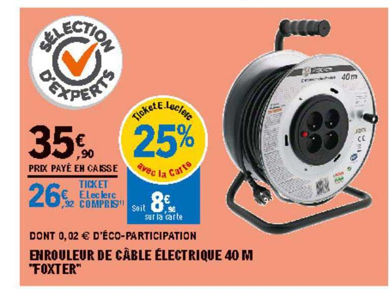Offre Enrouleur Electrique Vide Pre Cable Chez Brico Depot